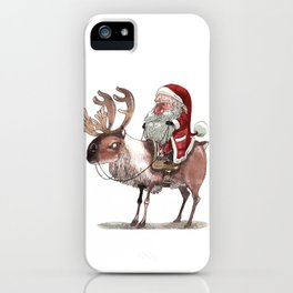 Père Noël Énervé / Angry Santa iPhone Case