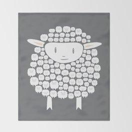 Baa baa White Sheep Throw Blanket