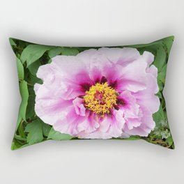 Rose and mauve peony with a heart of gold Rectangular Pillow