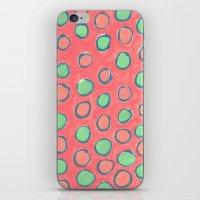 polka dot iPhone & iPod Skins featuring polka dot by Jenni Freidman