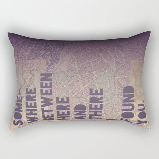 Here & There Rectangular Pillow