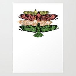HAWKS IN UNISON Art Print