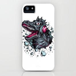Arsenic Druck Dino with Headphones iPhone Case