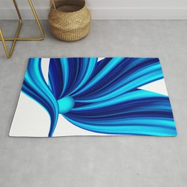Abstract blue 208 Rug