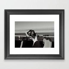 JAZZebell_ topless on a bus Framed Art Print