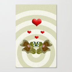 Caterpillars's Love Canvas Print