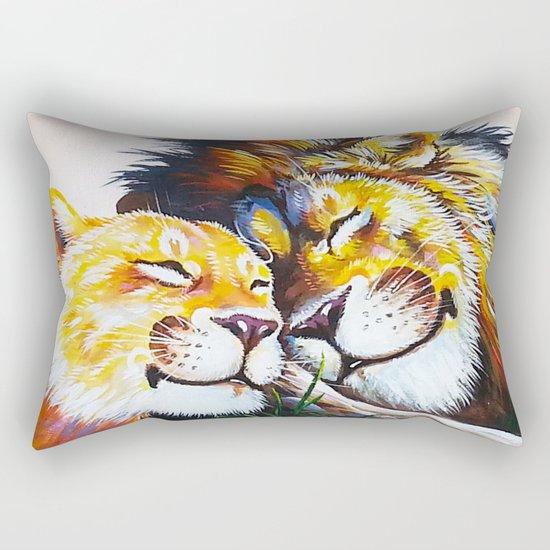 lion love Rectangular Pillow