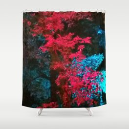 iDeal - Trippy Trees 01 Shower Curtain