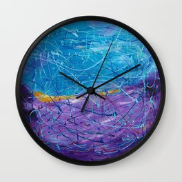 Purple/Blue Abstract Wall Clock