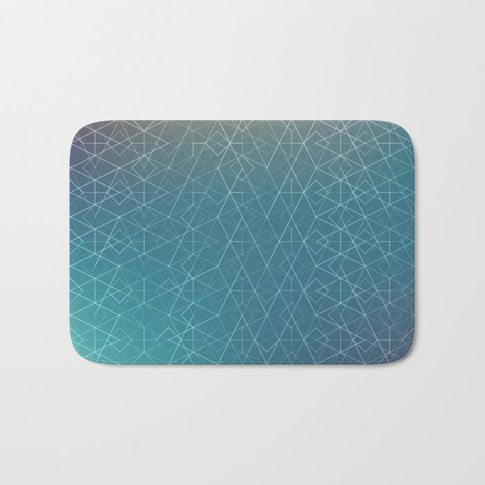 Blurred Geometry Bath Mat