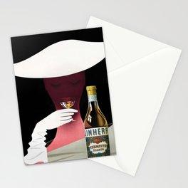 1950 Linherr Vermouth Bianco Aperitif Vintage Poster by arthur Ziegler Stationery Cards