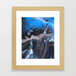 Blue Lightning Framed Art Print