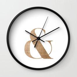 & BURLAP Wall Clock