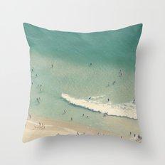 beach love II - Nazare Throw Pillow