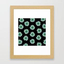 Geo Spring Flowers 04 Framed Art Print