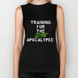 Training For the Zombie Apocalypse exercise funny t-shirt Biker Tank