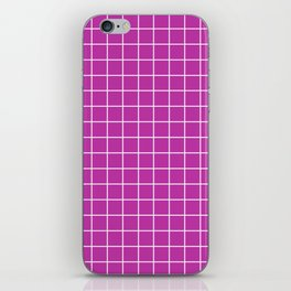 Byzantine - violet color - White Lines Grid Pattern iPhone Skin