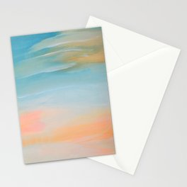 Fresh Colors Painterly Abstract Stationery Cards
