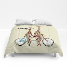 giraffe days lets tandem Comforters