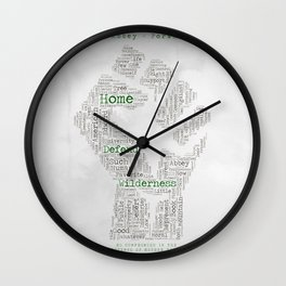 No Compromise in Defense of Mother Earth Wall Clock
