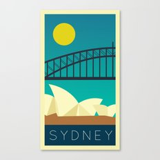Sydney - Vintage Retro Canvas Print