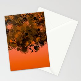 paint splatter on gradient pattern or Stationery Cards