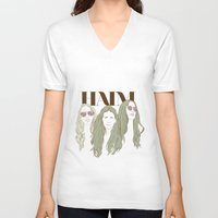 haim V-neck T-shirts featuring HAIM by chazstity