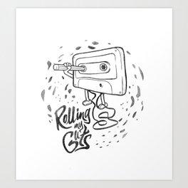 Rolling my guts Art Print