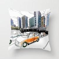 tokyo Throw Pillows featuring Tokyo by Jonas Ericson