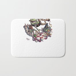 Frog on The Table Bath Mat