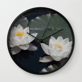 Two Water Lilies Wall Clock