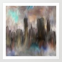 skyline Art Prints featuring Skyline by Rafael&Arty