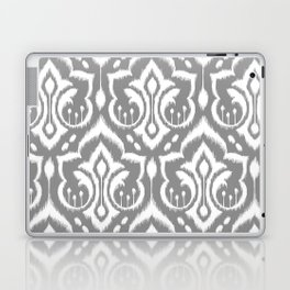 Ikat Damask Gray Laptop & iPad Skin