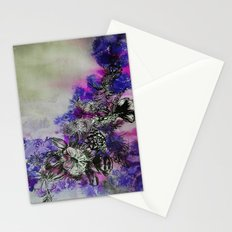 Purple Bouquet Stationery Cards