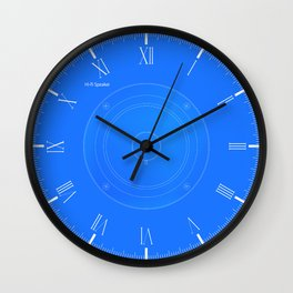 Hi Fi Speaker Cone Blueprint Wall Clock
