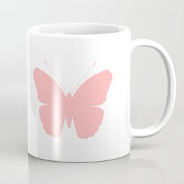 Pink Butterfly Design Coffee Mug