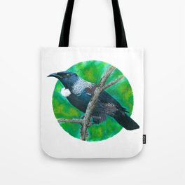 New Zealand Tui - Painting in acrylic Tote Bag