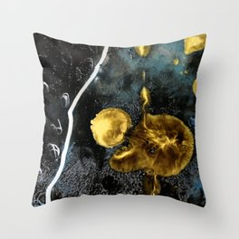 gold dark matter Throw Pillow