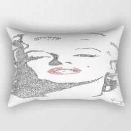 Marilyn Monroe written portrait Rectangular Pillow