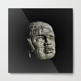 Mexican Pre Hispanic Head Sculpture Poster Metal Print