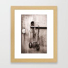 KITCHEN EQUIPMENT Framed Art Print