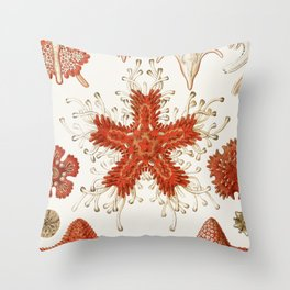 Starfish Vintage Illustration Throw Pillow