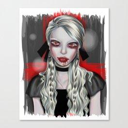 Vampire Portrait Canvas Print