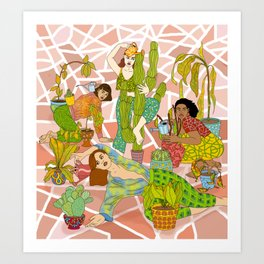 Succulent Success Art Print