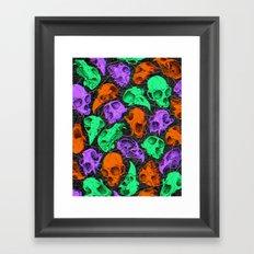Critter Skulls Framed Art Print