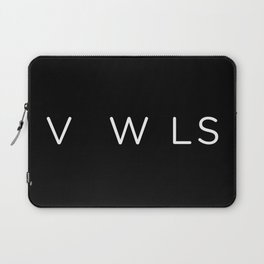 Vowels no vowels Laptop Sleeve