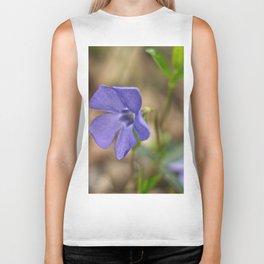 small blue flower in the forest Biker Tank