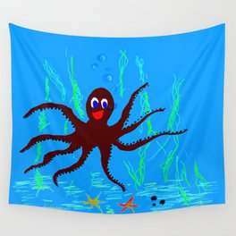 Happy polyp Wall Tapestry