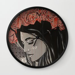 Rose crown Wall Clock