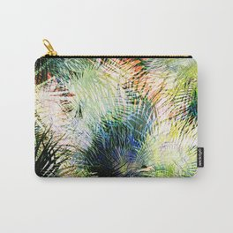 Modern palm leaves tropical abstract design Carry-All Pouch